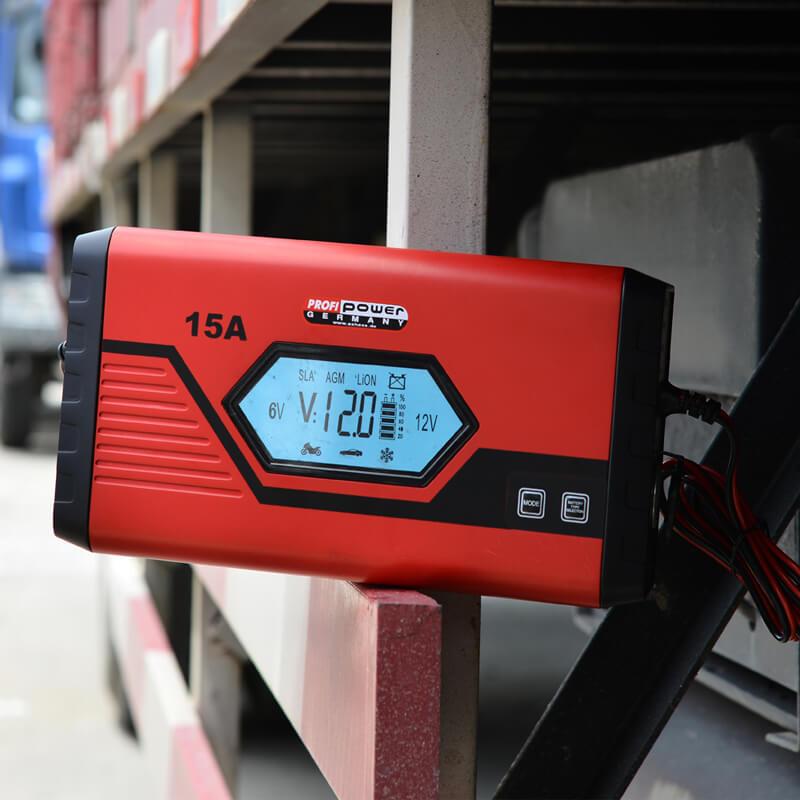 SLA卡车用锂12V汽车电池充电器15A